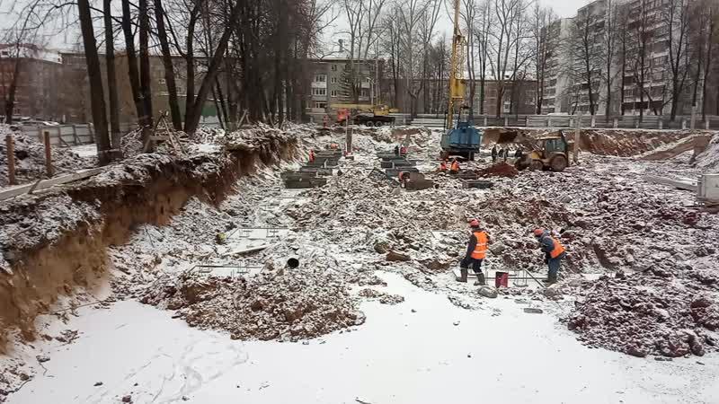 Котлован под новое здание