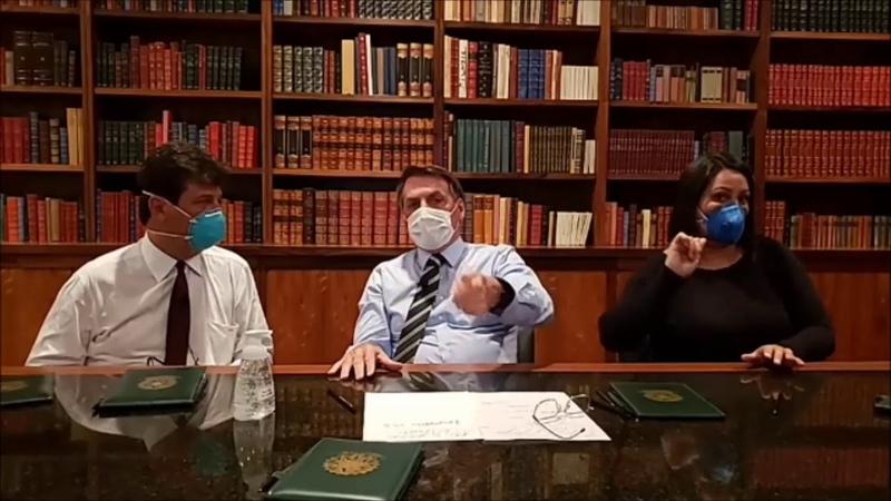Bolsonaro com MÁSCARA fala sobre coronavírus e PEDE PARA cancelarem o DIA 15 NAS RUAS InfoDigit PC