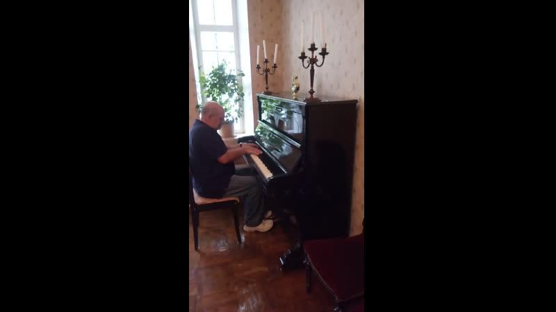 Виктор Маркович Лензон. Выступление в доме князей Голицыных (г. Мичуринск)