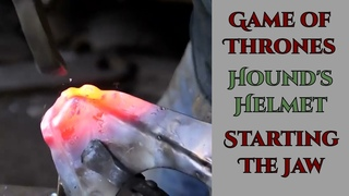 Game of Thrones Hound's Helmet Part 4 - Starting the Jaw