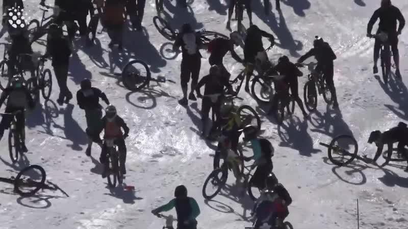 Bikers Slide Down Mountain of Hell!