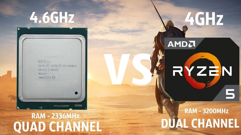 Assassin's Creed Origins Ryzen 5 2600 4GHz vs i7 4930K(xeon e5 1650v2) 4.6GHz