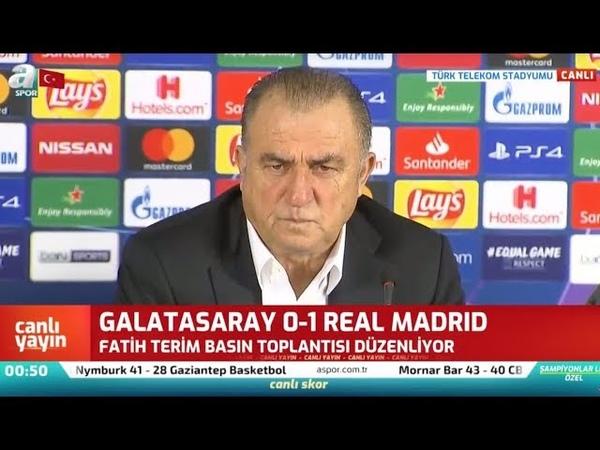 Galatasaray 0 - 1 Real Madrid Fatih Terim Maç Sonrası Basın Toplantısı Düzenledi A spor