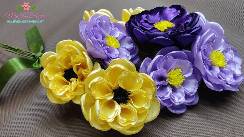 D.I.Y. SATIN RIBBON FLOWER BUNCH