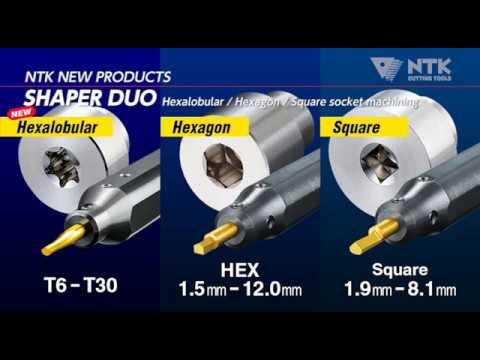 Hexagonal hole machining tool for STICK DUO sleeve holder SHAPER DUO (Metric ver.)