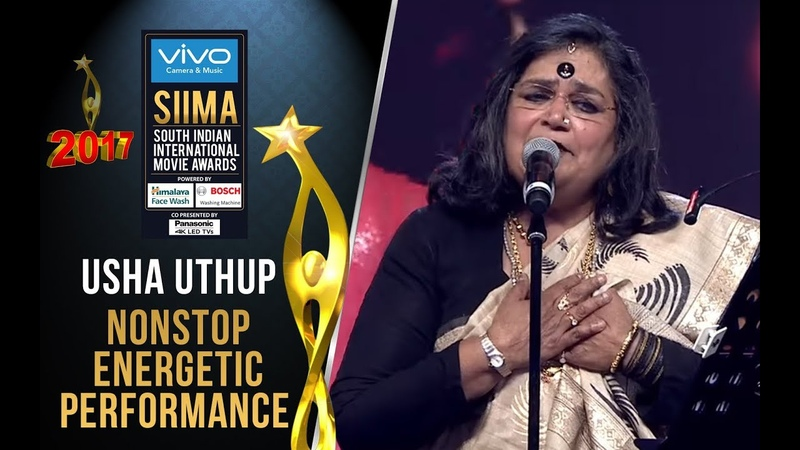 Usha Uthup NONSTOP Energetic Performance at SIIMA 2017 Telugu Awards