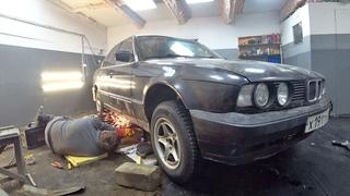 Пацанское восстановление Бумера в гараже!!! Часть1. Легенда BMW e34