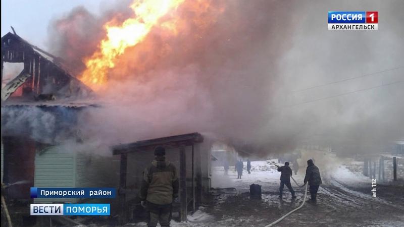 В Яреньге сгорел местный супермаркет