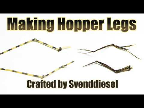 60 Second Summary of How to Make Natural and Rubber Knotted Hopper Legs Tutorial