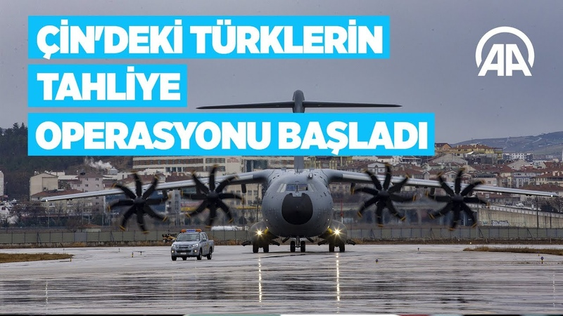 Türk vatandaşlarının Türkiye'ye getirilmesi için hazırlanan ambulans uçak Çin'e hareket ediyor