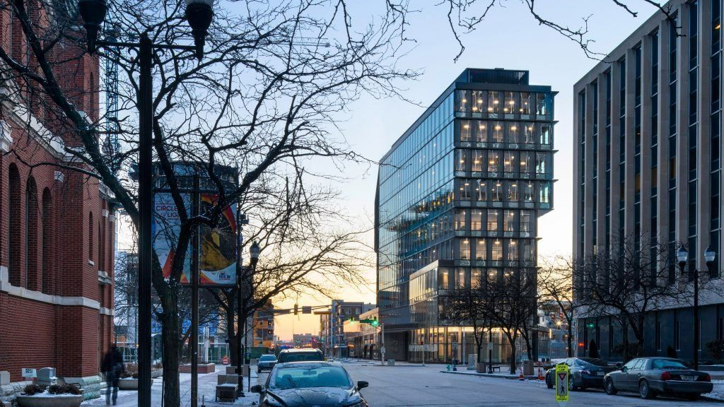 Deborah Berke's tower for downtown Indianapolis features shifted floor plates