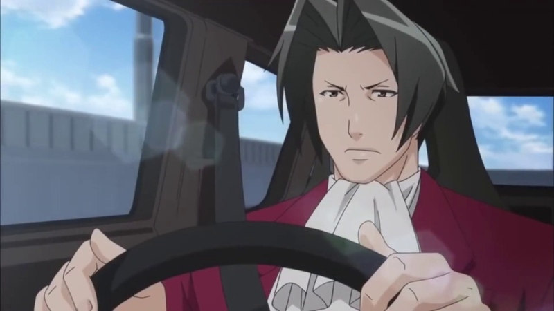 Edgeworth driving a car but its audi a4
