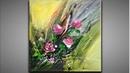 Démonstration peinture abstraite intuitive Lilian Fournier 11