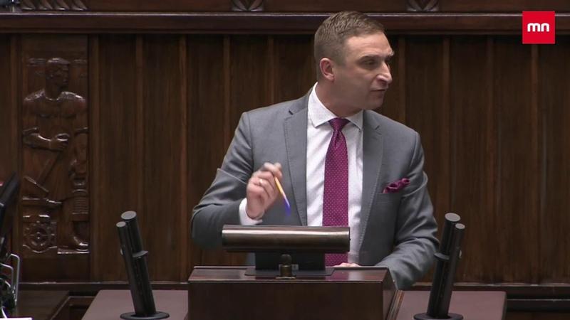 R Bąkiewicz z mównicy sejmowej odpowiada na kłamstwa Lewicy i PiSu