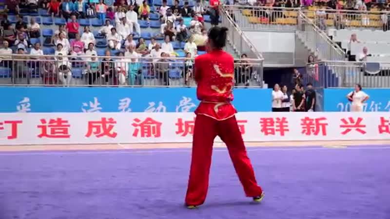 Womens 9 Section Whip Chain 女子九节鞭 第一名 四川队 袁梦苑 8 82分 yuan meng yuan si chuan 2017年全国武术套路冠军赛 传统项目赛区 YouTube 360p