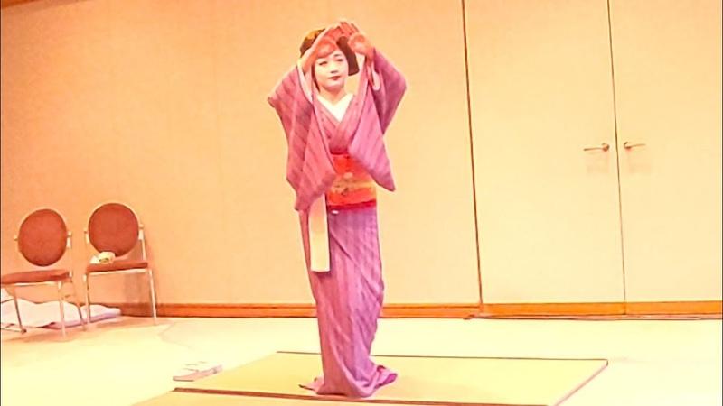 紗月さんの京舞とトーク 日•タイ•カルチャー•フェア in 京都 2019