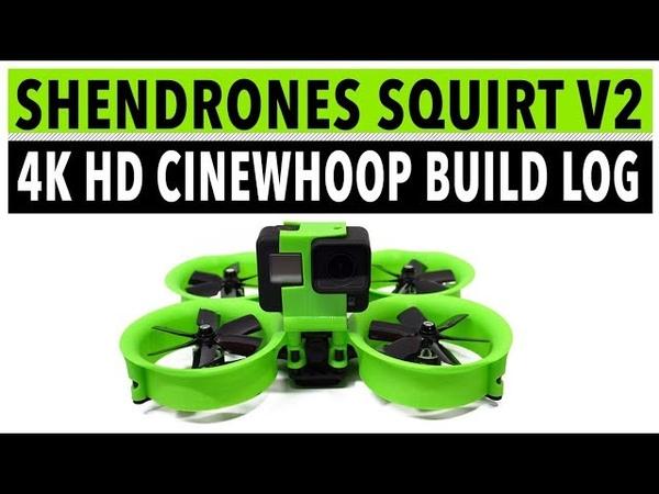 Обзор квадрокоптера ShenDrones Squirt V2 4K на английском языке от Whirly Bloke часть 1
