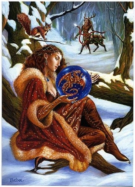 открытки с новым годом ведьмам девушка