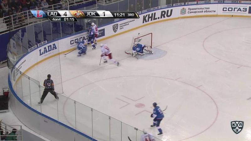Моменты из матчей КХЛ сезона 17/18/19 • Гол. 4:2. Ессе Йоэнсуу (Йокерит) сократил разрыв в счёте 30.09