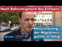 Tagesschau-Statement zum Bahnsteigmord in Frankfurt | Dr. Gottfried Curio