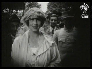 FRANCE: Crown Prince Carol of Romania and Princess Helen attend French Derby (1921)