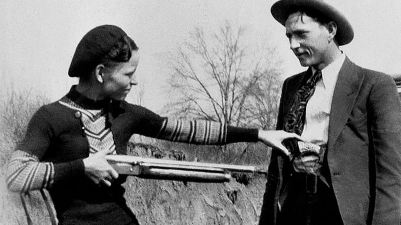 БОННИ и КЛАЙД (Bonnie Parker and Clyde Barrow) малоизвестные факты о всемирно известных преступниках