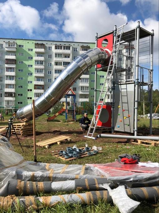 Монтаж детского игрового комплекса в г. Братск.