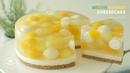 노오븐!💛 멜론 망고 치즈케이크 만들기 : No-Bake Melon Mango Cheesecake Recipe : メロンマンゴーレア