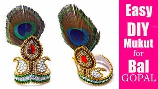 DIY How to make Mukut   God ( crown / tahia in odia )   kundan mukut   Crafty Butterfly 048