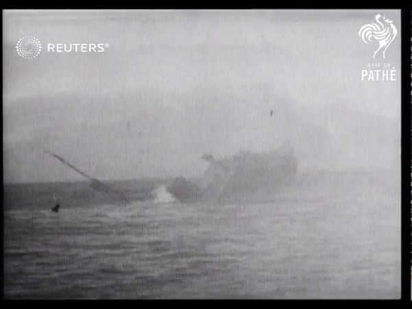 SS Mohawk is blown up to clear shipping lanes (1935)