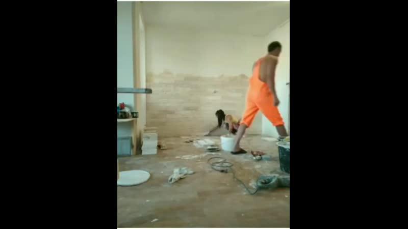 Отделка стены плиткой под песчаник руками жены - Ярослав Сиплатов - vk.com_my.da