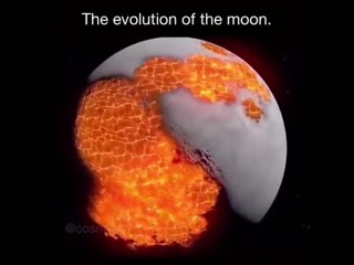 The evolution of the moon| History Porn