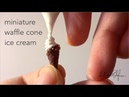 🍦Polymer Clay Miniature Tutorial - Waffle Cone Ice Cream