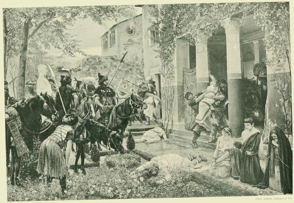 Гунны разоряют виллу в Галлии. Иллюстрация худ. G. Rochegrosse (1910 г.)