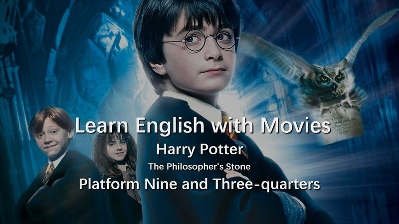 Platform Nine and Three quarters Harry Potter The Philosopher's Stone Learn English with Movies