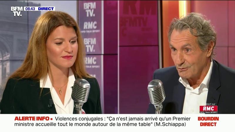 Agacé par Marlène Schiappa, Jean-Jacques Bourdin menace d'arrêter l'interview en direct