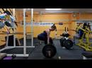 105 кг на 2 раза, второй подход