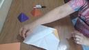 Мастер-класс Пирамида из бумаги.Проводит учитель ИЗО ГОУ ЛНР СГ № 26 Кирилова Галина Петровна.