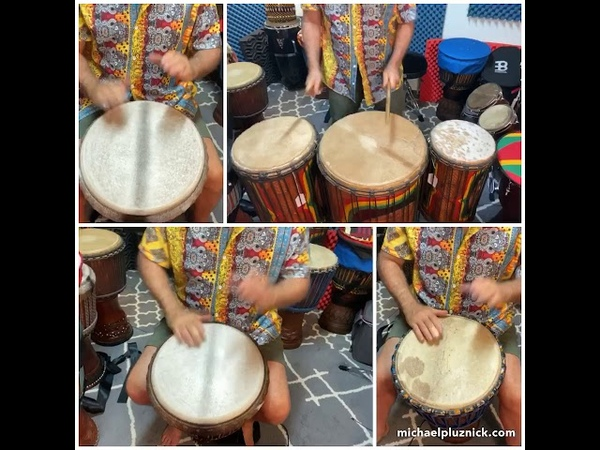 Mendiani Rhythm Played Non TraditionalModern Ballet Style with djembe Parts and Solos