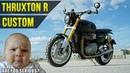 Triumph Thruxton R Скрамблер Где логика Тест на коленке