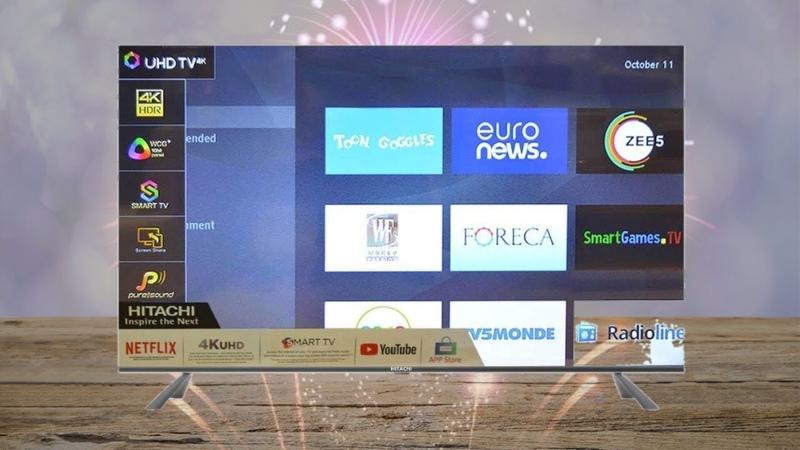 Hitachi LD65HTS08U 65 Inch 4K Ultra HD Smart LED TV