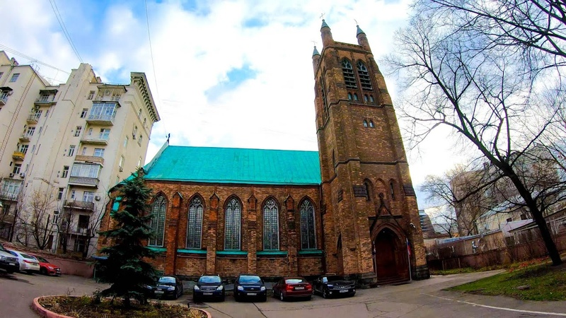 ⁴ᴷ⁵⁰ Walking Moscow: Moscow Center - from Arbatskaya Metro Station to St. Andrew's Anglican Church