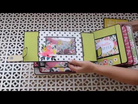 Pop up альбом Summer FUN/Страница №3/DIY pop up album/birthday card ideas/pop up book tutorial/彈出書