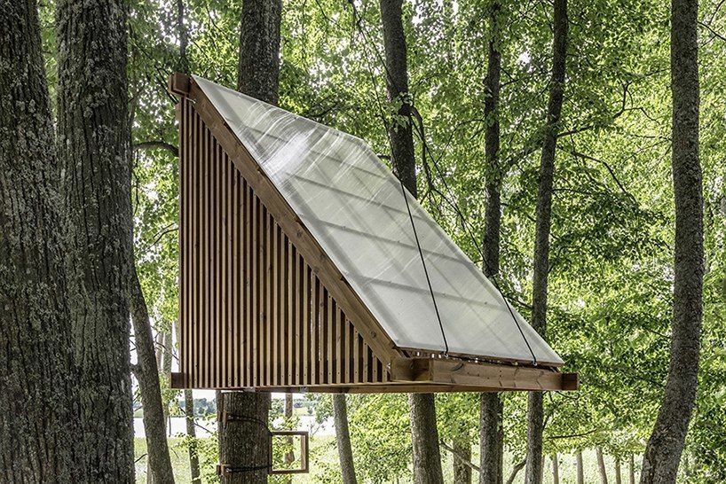 lithuanian woodland island hosts micro home design competition