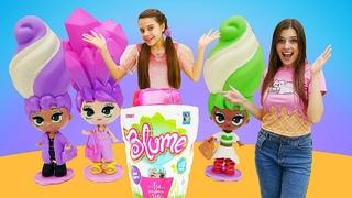 Классные игры для девочек. Вырасти свою куклу Blume! Видео распаковка кукол.