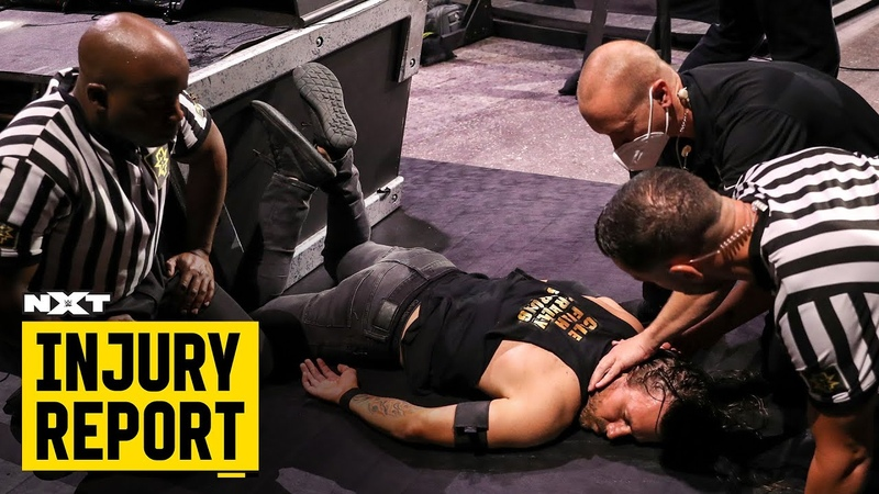 Is Adam Cole OK after McAfee's punt NXT Injury Report Aug 6 2020