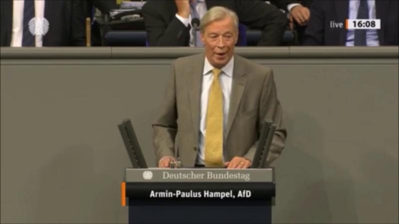 Armin Paulus Hampel (AfD) Die Politik des Westens im Nahen Osten ist gescheitert