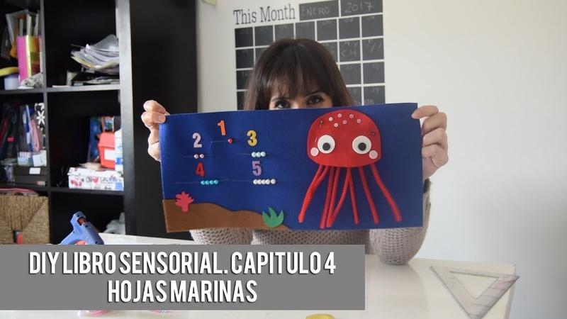 DIY LIBRO SENSORIAL CAPITULO 4 Hojas fondo mar