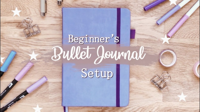 My sisters first Bullet Journal 2020 January Setup Tips for Beginners