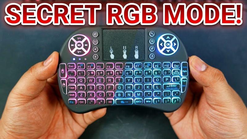 I8 Wireless Mini Keyboard Touchpad With TOP SECRET RGB CYCLING Mode!